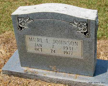 JOHNSON, MURL L - Drew County, Arkansas | MURL L JOHNSON - Arkansas Gravestone Photos