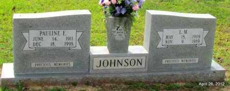 JOHNSON, L M - Drew County, Arkansas | L M JOHNSON - Arkansas Gravestone Photos
