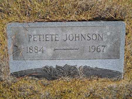 JOHNSON, PETIETE - Drew County, Arkansas   PETIETE JOHNSON - Arkansas Gravestone Photos