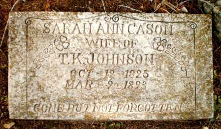 JOHNSON, SARAH ANN - Drew County, Arkansas | SARAH ANN JOHNSON - Arkansas Gravestone Photos