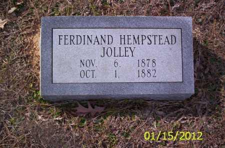 JOLLEY, FERDINAND HEMPSTEAD - Drew County, Arkansas | FERDINAND HEMPSTEAD JOLLEY - Arkansas Gravestone Photos