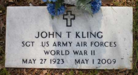 KLING (VETERAN WWII), JOHN T - Drew County, Arkansas | JOHN T KLING (VETERAN WWII) - Arkansas Gravestone Photos