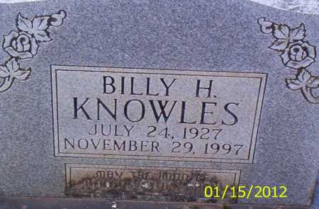 KNOWLES, BILLY H - Drew County, Arkansas | BILLY H KNOWLES - Arkansas Gravestone Photos