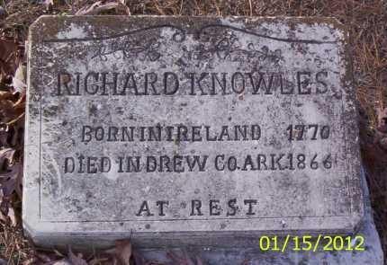 KNOWLES, RICHARD - Drew County, Arkansas   RICHARD KNOWLES - Arkansas Gravestone Photos