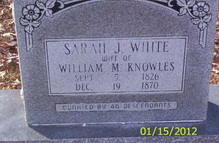KNOWLES, SARAH J - Drew County, Arkansas | SARAH J KNOWLES - Arkansas Gravestone Photos