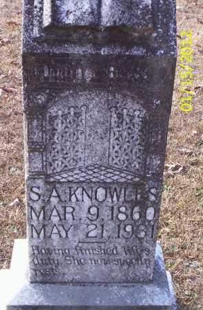 LOVELESS KNOWLES, SARAH ALICE - Drew County, Arkansas | SARAH ALICE LOVELESS KNOWLES - Arkansas Gravestone Photos