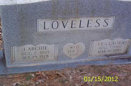 LOVELESS, J ARCHIE - Drew County, Arkansas | J ARCHIE LOVELESS - Arkansas Gravestone Photos