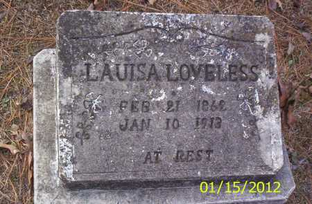 LOVELESS, LAUISA - Drew County, Arkansas | LAUISA LOVELESS - Arkansas Gravestone Photos