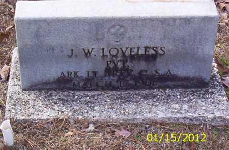 LOVELESS (VETERAN CSA), J W - Drew County, Arkansas | J W LOVELESS (VETERAN CSA) - Arkansas Gravestone Photos