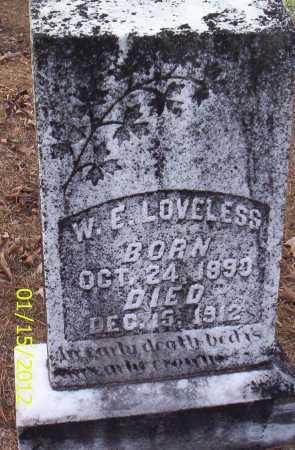 LOVELESS, W E - Drew County, Arkansas | W E LOVELESS - Arkansas Gravestone Photos