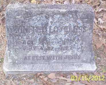 LOVELESS, WINFRED - Drew County, Arkansas | WINFRED LOVELESS - Arkansas Gravestone Photos