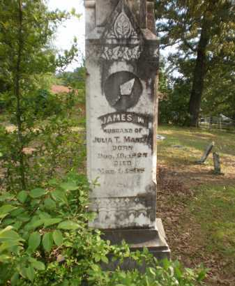 MANEES (VETERAN CSA), JAMES W - Drew County, Arkansas | JAMES W MANEES (VETERAN CSA) - Arkansas Gravestone Photos