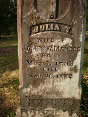 MANEES, JULIA T (CLOSE UP) - Drew County, Arkansas | JULIA T (CLOSE UP) MANEES - Arkansas Gravestone Photos