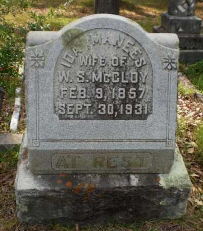 MCCLOY, IDA - Drew County, Arkansas   IDA MCCLOY - Arkansas Gravestone Photos