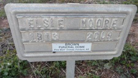 MOORE, ELSIE - Drew County, Arkansas   ELSIE MOORE - Arkansas Gravestone Photos