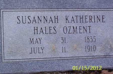 OZMENT, SUSANNAH KATHERINE - Drew County, Arkansas | SUSANNAH KATHERINE OZMENT - Arkansas Gravestone Photos