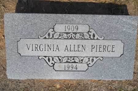 PIERCE, VIRGINIA - Drew County, Arkansas   VIRGINIA PIERCE - Arkansas Gravestone Photos
