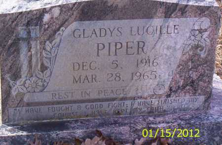 PIPER, GLADYS LUCILLE - Drew County, Arkansas | GLADYS LUCILLE PIPER - Arkansas Gravestone Photos