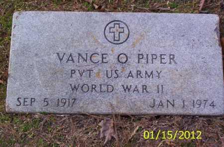 PIPER (VETERAN WWII), VANCE O - Drew County, Arkansas | VANCE O PIPER (VETERAN WWII) - Arkansas Gravestone Photos