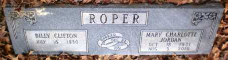 JORDAN ROPER, MARY CHARLOTTE - Drew County, Arkansas | MARY CHARLOTTE JORDAN ROPER - Arkansas Gravestone Photos