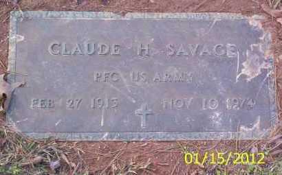 SAVAGE (VETERAN), CLAUDE H - Drew County, Arkansas | CLAUDE H SAVAGE (VETERAN) - Arkansas Gravestone Photos