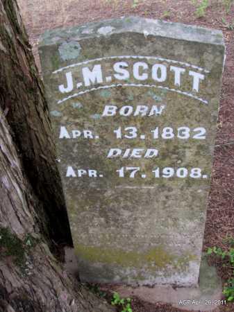 SCOTT, J M - Drew County, Arkansas | J M SCOTT - Arkansas Gravestone Photos
