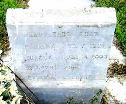 SHAW, FRED EARL - Drew County, Arkansas | FRED EARL SHAW - Arkansas Gravestone Photos
