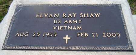 SHAW (VETERAN VIET), ELVAN RAY - Drew County, Arkansas | ELVAN RAY SHAW (VETERAN VIET) - Arkansas Gravestone Photos