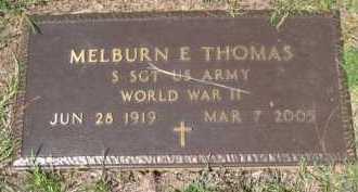THOMAS (VETERAN WWII), MELBURN E - Drew County, Arkansas | MELBURN E THOMAS (VETERAN WWII) - Arkansas Gravestone Photos