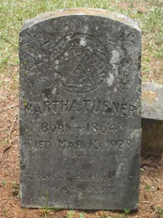 TURNER, MARTHA - Drew County, Arkansas | MARTHA TURNER - Arkansas Gravestone Photos