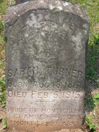 TURNER, SARAH - Drew County, Arkansas | SARAH TURNER - Arkansas Gravestone Photos