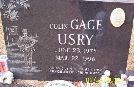 USRY, COLIN GAGE - Drew County, Arkansas   COLIN GAGE USRY - Arkansas Gravestone Photos