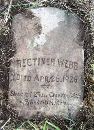 WEBB, RECTINER - Drew County, Arkansas | RECTINER WEBB - Arkansas Gravestone Photos
