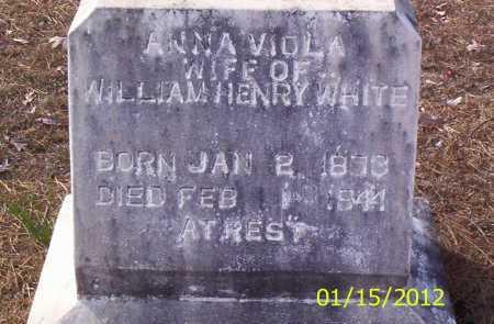 WHITE, ANNA VIOLA - Drew County, Arkansas | ANNA VIOLA WHITE - Arkansas Gravestone Photos