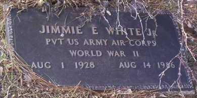 WHITE, JR (VETERAN WWII), JIMMIE E - Drew County, Arkansas   JIMMIE E WHITE, JR (VETERAN WWII) - Arkansas Gravestone Photos