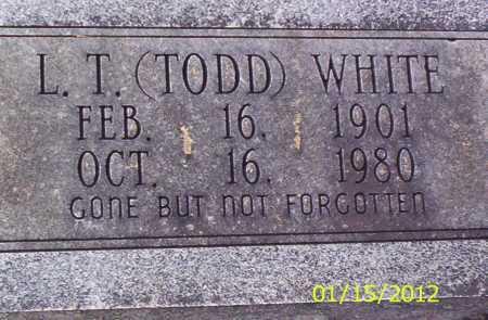 "WHITE, L T ""TODD"" - Drew County, Arkansas   L T ""TODD"" WHITE - Arkansas Gravestone Photos"