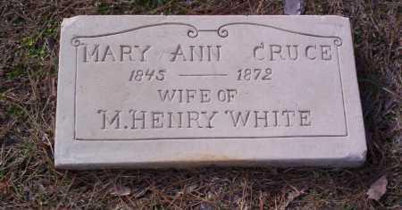 CRUCE WHITE, MARY ANN - Drew County, Arkansas | MARY ANN CRUCE WHITE - Arkansas Gravestone Photos