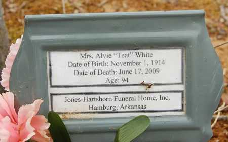 "WHITE, ALVIE ""TREAT"", MRS - Drew County, Arkansas 