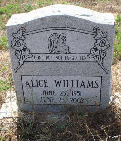 WILLIAMS, ALICE - Drew County, Arkansas | ALICE WILLIAMS - Arkansas Gravestone Photos
