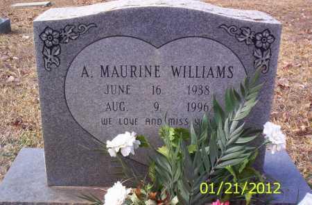 WILLIAMS, A MAURINE - Drew County, Arkansas   A MAURINE WILLIAMS - Arkansas Gravestone Photos
