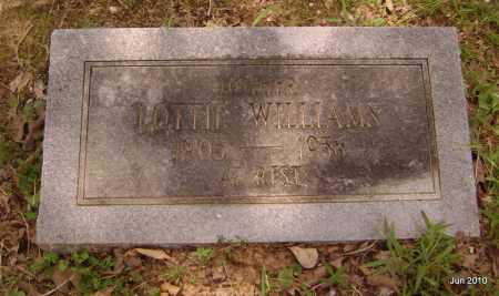 WILLIAMS, LOTTIE - Drew County, Arkansas | LOTTIE WILLIAMS - Arkansas Gravestone Photos
