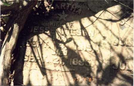 WRIGHT WILSON, MARTHA LEE (PATSY) - Drew County, Arkansas | MARTHA LEE (PATSY) WRIGHT WILSON - Arkansas Gravestone Photos