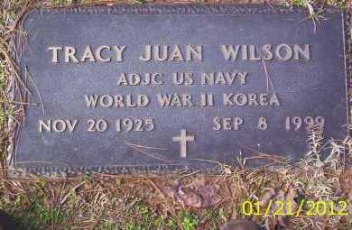 WILSON (VETERAN 2 WARS), TRACY JUAN - Drew County, Arkansas   TRACY JUAN WILSON (VETERAN 2 WARS) - Arkansas Gravestone Photos