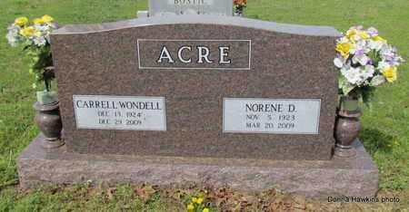 ACRE, CARRELL WONDELL - Faulkner County, Arkansas | CARRELL WONDELL ACRE - Arkansas Gravestone Photos
