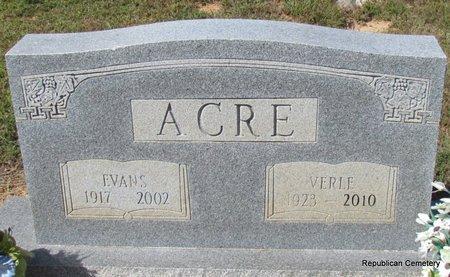ACRE, VERLE - Faulkner County, Arkansas | VERLE ACRE - Arkansas Gravestone Photos