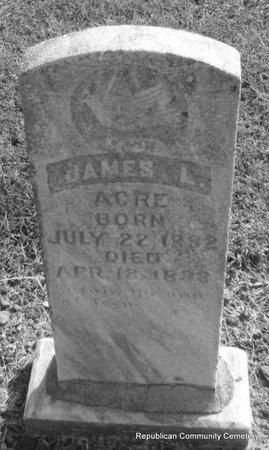 ACRE, JAMES L. - Faulkner County, Arkansas | JAMES L. ACRE - Arkansas Gravestone Photos