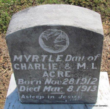 ACRE, MYRTLE - Faulkner County, Arkansas   MYRTLE ACRE - Arkansas Gravestone Photos