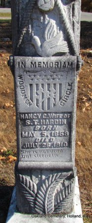 HARDIN, NANCY CORNELIA (CLOSE UP) - Faulkner County, Arkansas   NANCY CORNELIA (CLOSE UP) HARDIN - Arkansas Gravestone Photos