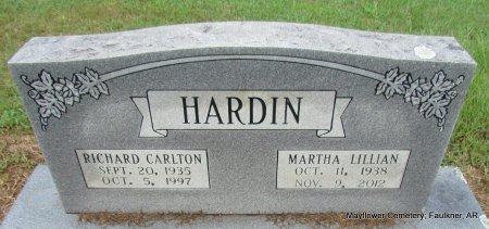 HARDIN, MARTHA LILLIAN - Faulkner County, Arkansas   MARTHA LILLIAN HARDIN - Arkansas Gravestone Photos