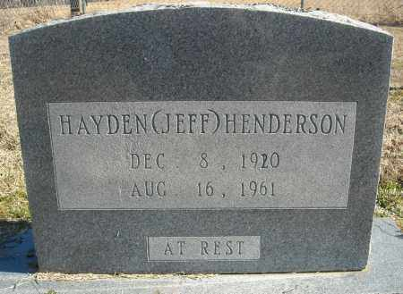 "HENDERSON, HAYDEN ""JEFF"" (TWIN) - Faulkner County, Arkansas 